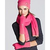 Juicy Couture Angora Gloves, Beanie & Scarf