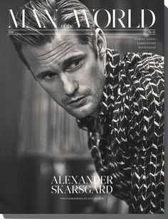 """Man of the World has shared another photo of Alex by Guy Aroch from their No. 16 issue: """"I needed to do something different and slightly more extreme."""" #Alexander Skarsgard in MotW No. 16, available now at manoftheworld.com. by @guyaroch fashion by..."""