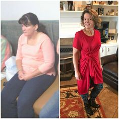 """Two year Trimmiversary! I didn't even know I had a before pic until my husband showed me this one from his phone! I did not realize the change. I am flabbergasted!"""" - Mary J. www.TrimHealthyMama.com"""