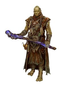 Orc Shaman or Witch or Sorcerer - Pathfinder Dungeons E Dragons, Dungeons And Dragons Characters, Dnd Characters, Fantasy Characters, Fantasy Races, Fantasy Rpg, Medieval Fantasy, Dnd Orc, Dnd Druid
