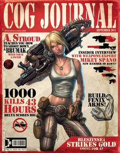 Anya Stroud from the 'Gears Of War' series of video games.