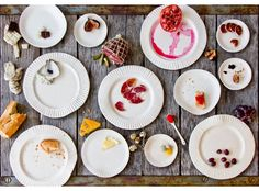 Delicate one-of-a-kind porcelain plates that look like paper plates.