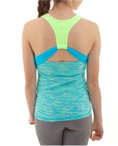 Cutout back offers ventilation, making this tank awesome for tennis matches and gym activities | Super Love Tank