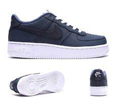 buy popular fe6ba bd8a8 Nike Junior Air Force 1 Low Trainer   Obsidian   Footasylum