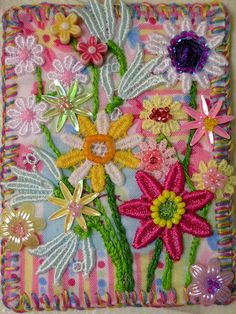 gorgeous, love fabric collages and hand sewn atcs, can't do it myself, so i admire.