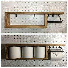 アイアン トイレットペーパーホルダー(ペーパー収納型) Wood Rack, Bathroom Design Small, Diy Home Crafts, Handmade Home Decor, Home Hacks, New Furniture, Bathroom Interior, Bathroom Accessories, Decoration