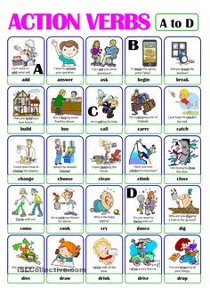 Action verbs board game | poon | Pinterest | Student-centered ...