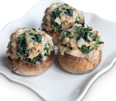 Spinach Stuffed Mushrooms. Only 6g Net Carbs.  I made these today and they are wonderful, some of the best I've ever had.