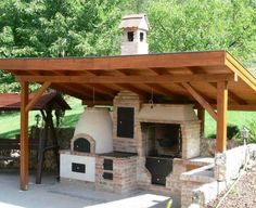 Handcrafted tile stoves by Akos Kaszap and Andras Cserepes at Kácsa Ceramics Manufactory. Pizza Oven Outdoor, Outdoor Cooking, Outdoor Fire, Outdoor Living, Parrilla Exterior, Barbecue Garden, Wood Fired Pizza, Outdoor Kitchen Design, Outdoor Kitchens