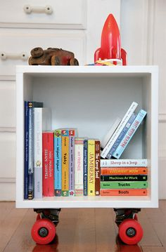 1-diy-skater-book-cubby-   for E to make with the next skateboard he finds at the thrift store!