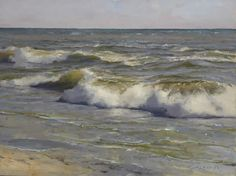 Donald Demers, Summer Surf, oil on canvas panel, 12 x 16 inches SOLD