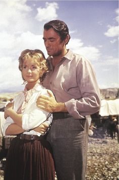 Still of Gregory Peck and Debbie Reynolds in How the West Was Won