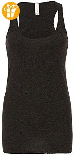Bella+Canvas-Damen-Triblend deep V-Ausschnitt t-shirt, Longer body length tshirt (*Partner-Link)