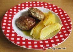 Πεντανόστιμα μπιφτέκια #sintagespareas #mpiftekia Greek Beauty, Baked Potato, Potatoes, Baking, Ethnic Recipes, Food, Google, Bread Making, Patisserie