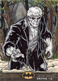 DC Comics 'Batman The Legend' Solomon Grundy Sketch Card Comic Art