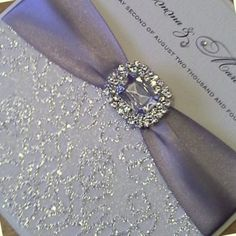 Elegant Wedding Invitations with Crystals | Crystal « Crystal Couture Wedding Stationery Norfolk UK Award Winning ...