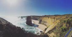 12 Apostles on the Great Ocean Road  #backpacking #aroundtheworld #greatoceanroad #van #australia #apollobay #victoria #beautiful #sky #blue #rocks #nature #yum #perfect #feeling #barefood #sea #mare #meer #no #clouds #sun #sonne #summer #travel #vegansofig #vegan #vegetarian by worldwide_veggierestaurants http://ift.tt/1LQi8GE