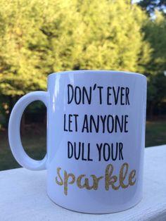 Inspirational gift/cute coffee mug/grad gift/coffee by ByTracey