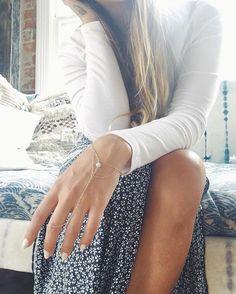 || favorite @brandymelvilleusa skirt - love me a good slit // featuring the Aquamarine Hand Chain xx . . . . . . . . . . . . . #aquamarine #crystaljewelry #brandymelville #giveback #donate #savetheocean #SaveOurCoast #saveourseas #jewelryforacause #jewelrydesigner #bohemian #boho #bohochic #boholuxe #luxe #goldjewelry #goldchain #handchain #customjewelry #14kgold #festivalfashion #shopifypicks #effortless #fashiondiaries #festival #jotd #ootd #auqa