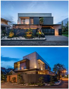 Home Building Design, Building A House, Facade Design, Architect Design, Modern House Design, Bungalow, Houses, Exterior, Mansions