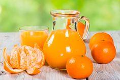 Suco de tangerina para dar mais energia