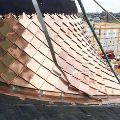 Talking roofing options on the podcast today.  Link is in my profile.  This is a copper roof that is underway on our homearama house in Norton Commons.  #builtbyartisan #nortoncommons #copper