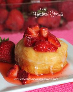 Strawberry Sensation Gourmet Donut-fruits, cookies, candies, the possibilities are limitless