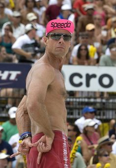 tampa june 3 karch kiraly signals his partner during the mens finals against jake