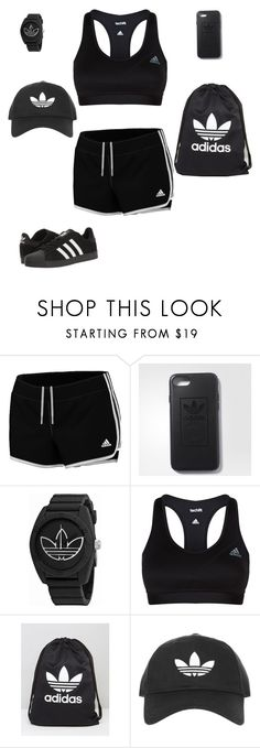 """normal jog"" by cherry914 ❤ liked on Polyvore featuring adidas"