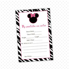 Minnie Mouse Baby Shower Decorations Pink Baby Minnie Mouse