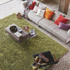 Brink and Campman Rocks Shaggy Wool Rugs 70507 Green Tons Clairs, Childrens Rugs, Polypropylene Rugs, Living Room Flooring, Red Rugs, Rugs Online, Modern Rugs, Decoration, Colours