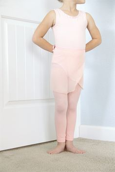 How to make a Ballet Wrap Skirt, easy ballet wrap skirt DIY