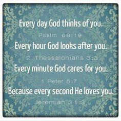 We are being loved into existence! If God did not love us, if He stopped thinking of us, we would not exist.