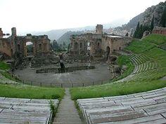 Ancient theatre at Mt. Etna, Greece