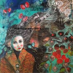 Late Autumn- Original mixed media  painting by Maria Pace-Wynters by MariaPaceWynters on Etsy https://www.etsy.com/listing/474538638/late-autumn-original-mixed-media