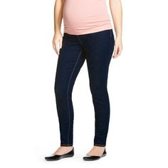 Maternity Over the Belly Jegging - Dark Wash - Liz Lange® for Target.  Slimming and comfortable, this is GENIUS!