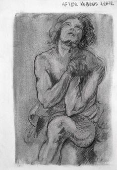 Tim Dayhuff - drawings - after Rubens