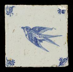 Tegel: Zwaluw - Het Geheugen van Nederland - Online beeldbank van Archieven, Musea en Bibliotheken