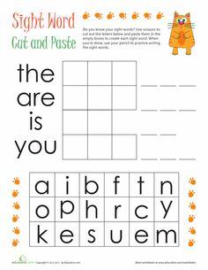 Kindergarten Sight Words Worksheet | Literacy | Pinterest ...