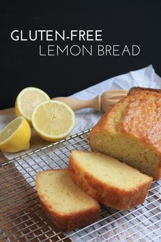 Gluten-free baking can be a challenge, but completely doable. Try this simple Gluten-Free Lemon Bread, and put the fun back into baking. Use non-dairy milk for a dairy free version. Patisserie Sans Gluten, Dessert Sans Gluten, Gluten Free Sweets, Gluten Free Cakes, Gluten Free Cooking, Gluten Free Lemon Cake, Gluten Free Dairy Free Bread Recipe, Gluten Free Garlic Bread, Gluten Free Quick Bread
