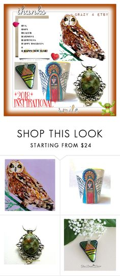 """""""*2018* INSPIRATIONAL"""" by sylvia-cameojewels ❤ liked on Polyvore featuring polyvorecontest, artexpression, etsygifts and crazy4etsy"""