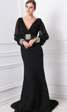 Black Evening Plus Size Dresses