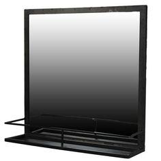$195.00 Lucas Iron Framed Mirror with Shelf