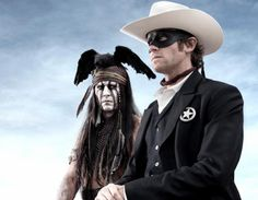 """Johnny Depp as Tonto in """"The Lone Ranger"""". Some controversy here...will wait to see the movie to weigh in."""