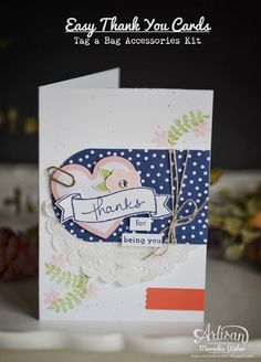 Stampin Up Artisan Blog Hop- Endless Thanks