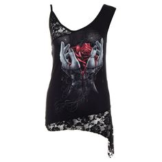 Spiral Direct Hands Of Sorrow Lace Top (Black)