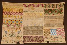 Buy online, view images and see past prices for TWO LINEN NEEDLE WORK SAMPLERS, c. 1700 & Invaluable is the world's largest marketplace for art, antiques, and collectibles. Embroidery Sampler, Pattern Art, Needlework, Berlin, Auction, Mexican, Quilts, Stitch, Antique