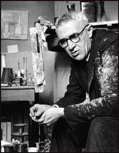 de-salva:Giorgio Morandi in his Studio (Atelier) Photo by Herbert List Herbert List, Italian Painters, Italian Artist, Artist Art, Artist At Work, Artistic Photography, Portrait Photography, Artist Workspace, Painters Studio