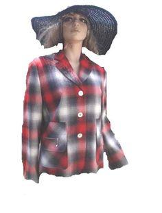 Apriori by  Escada Blazer rot weiß schwarz grau Gr 42 - 44 NEU Mode Shop