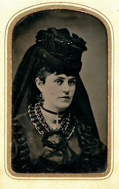Victorian lady in mourning.